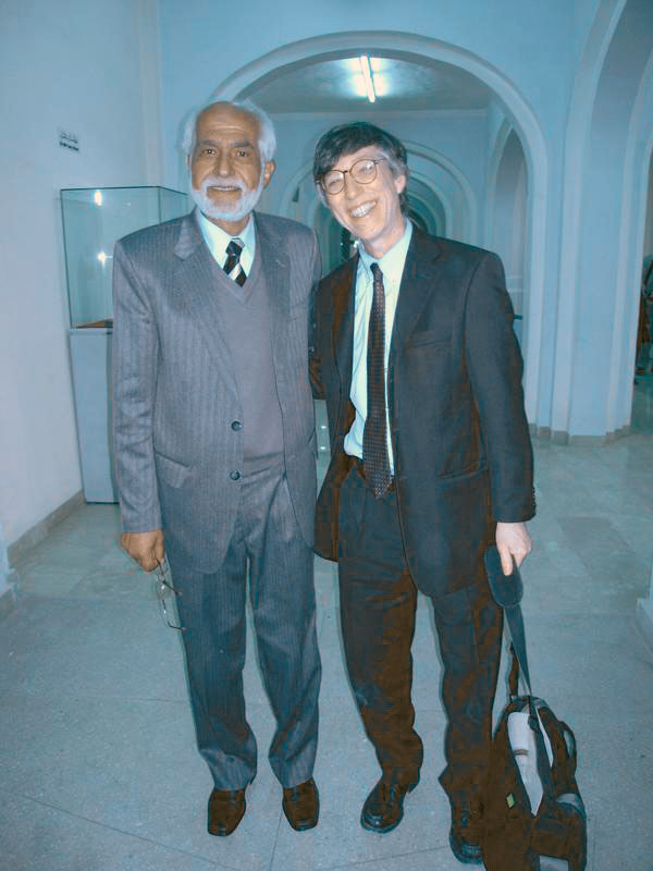 Brian Rose with Afghanistan Deputy Minister of Culture, Omar Sultan Rose