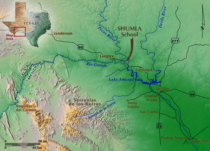 Lower Pecos Rock Art Recording And Preservation Project - Rio grande river world map