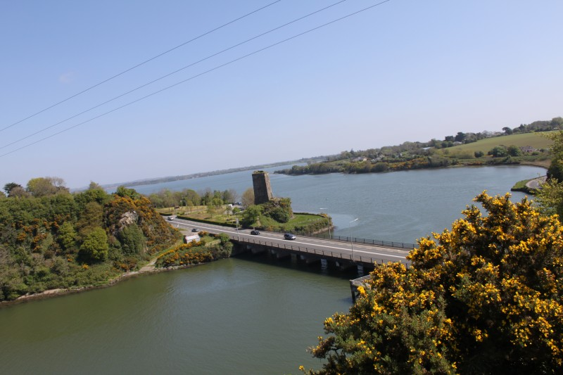 View from the site to the northeast, toward Roche's Castle and the Slaney Estuary