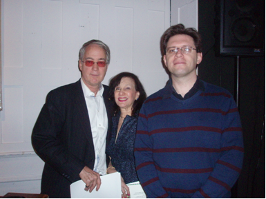 Event organizer Michele Kidwell (center) with Richard Panchyk (right) and NAC President O. Aldon James, Jr. (left)