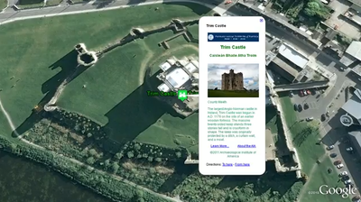 """Take a <a href=""""http://www.youtube.com/watch?v=KH8N3DtkNSo"""">video tour</a> of Google Earth's Archaeological Heritage Map of Ireland."""