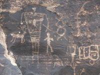 Petroglyph panel dating ca. 500 BCE