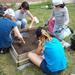 CAP Kids at mock excavation before going to site.