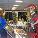 When not staging mock battles and gladiatorial contests, re-enactors took time to browse the exhibits in Milwaukee.