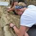 Students uncover a medieval grave