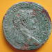 Sesterius of the Emperor Trajan, found at Vacone in 2012.