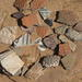 Pottery from excavated pueblo dating ca. 1200 C.E.