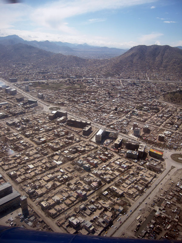 Flying over Kabul