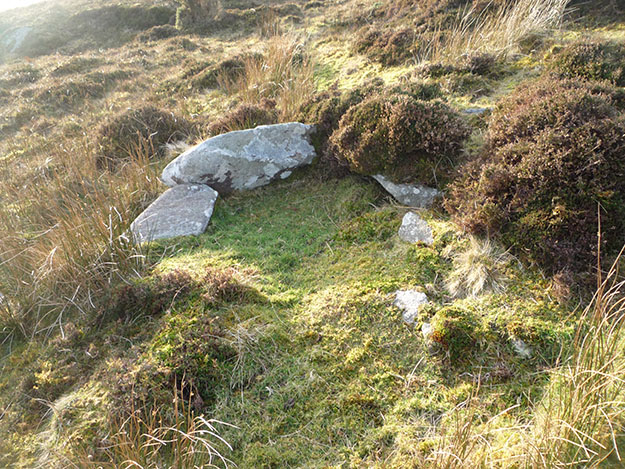 The possible cist to the south of the Cromlech Tumulus