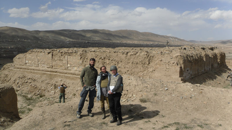 With Laura Tedesco, Cultural Heritage Program Manager at the US Embassy in Kabul, and Stetson Sanders, Senior Civilian Representative at the U.S. PRT in Ghazni in front of the Buddhist monument at Tepe Sardar.