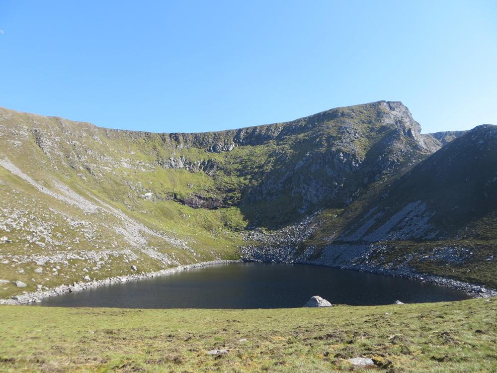 Lake at rear of Croaghaun Mountain