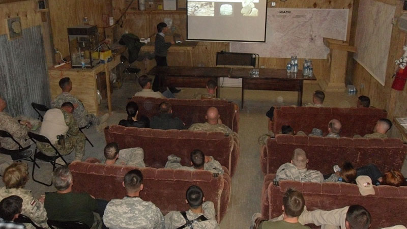 My culture heritage lecture to the U.S. troops